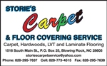 STORIE'S CARPET AND FLOOR COVERING SERVICE