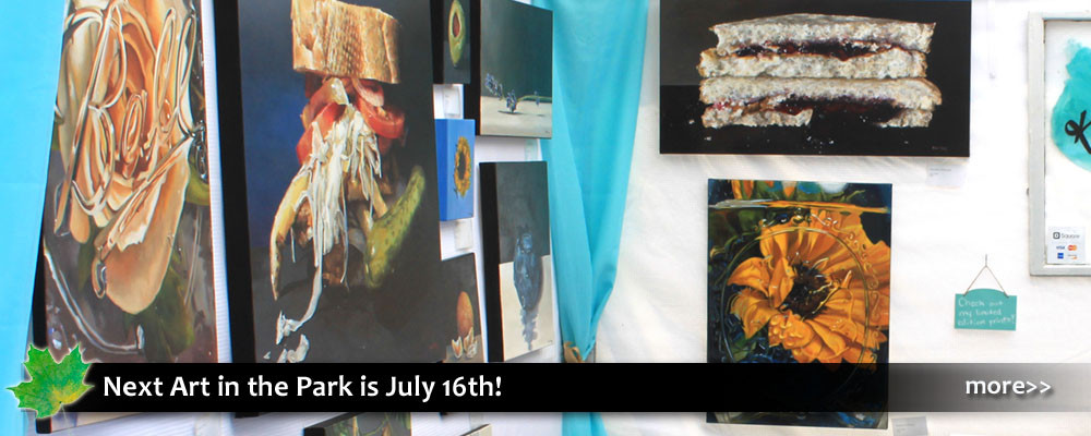 Art in the Park in Blowing Rock, outdoor annual show with 90 artists and crafts people. Free
