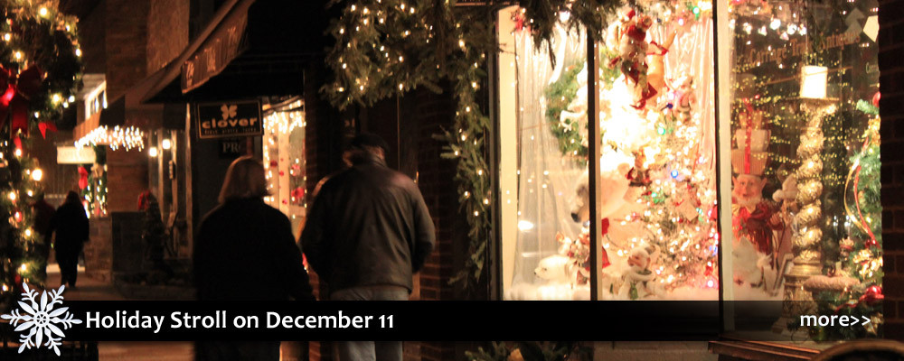 Holiday stroll in Blowing Rock with live music, family friendly entertainment at the variety show, and shopping specials.