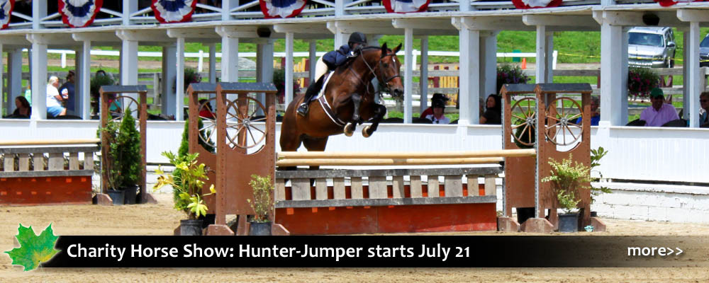 Blowing Rock Charity Horse Show is an outdoor event perfect for families and animal lovers! Hunter Jumper events feature obstacle courses for children, adult, ponies, and junior competitors.