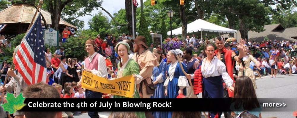 4th of July Independence Day celebration and festival in Blowing Rock in the NC Blue Ridge Mountains