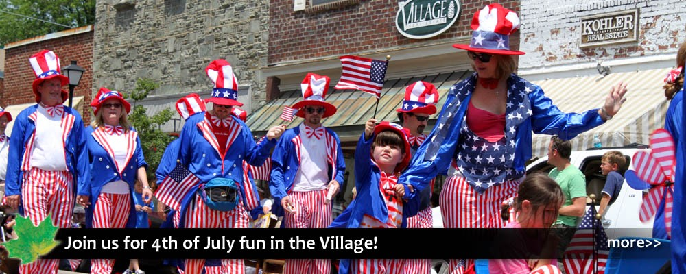 Family fun, games, parade, music and festival  entertainment, all for free for the Independence Day holiday celebration on July 4th!