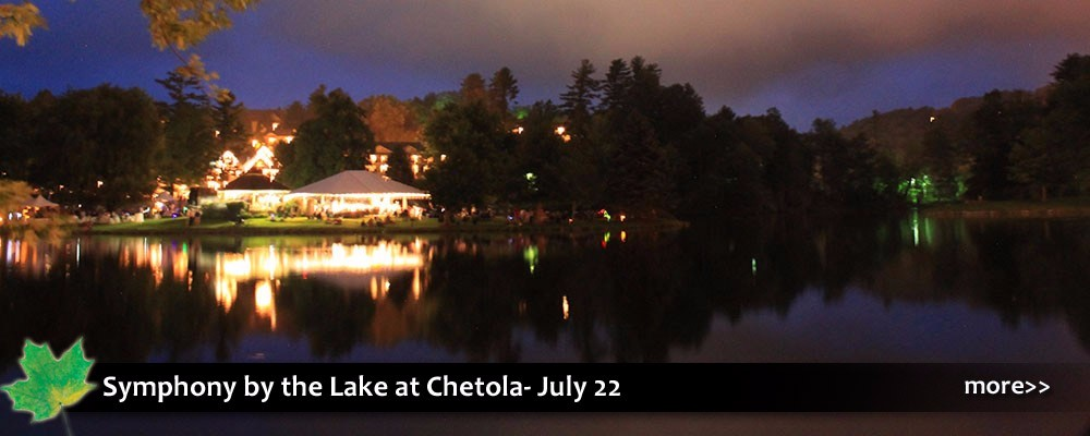 The Symphony by the Lake at Chetola with outdoor music and food, fireworks and fun