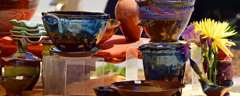 blowing rock pottery at art in the park