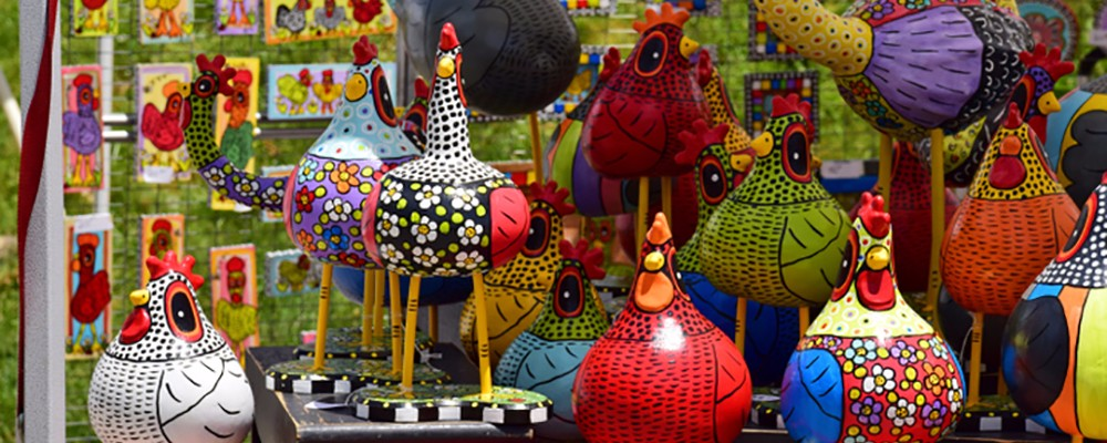 art in the park in blowing rock, north carolina