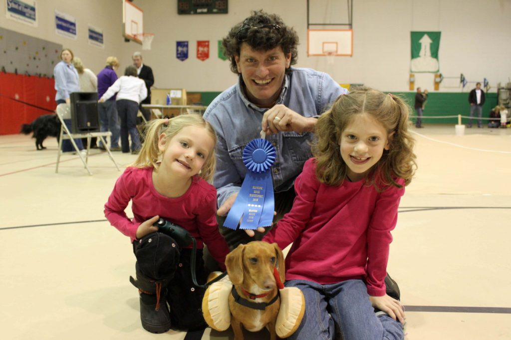 Family at Dog Show
