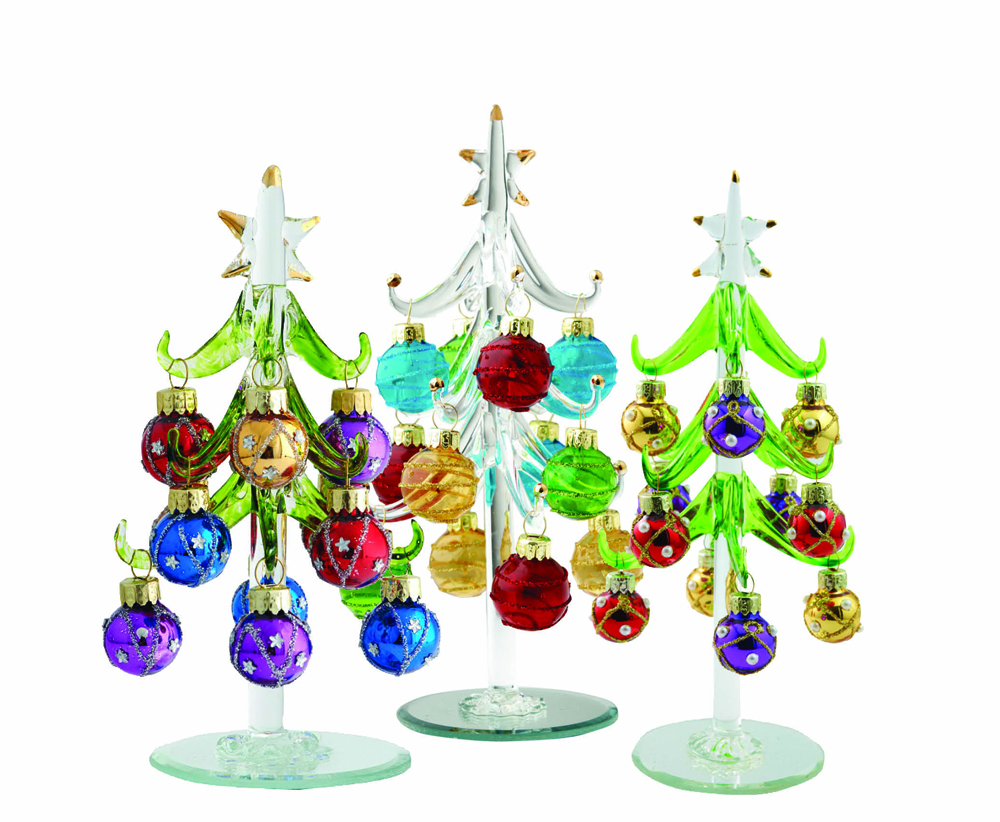 Miniature crystal ornaments - These Exquisite Miniature Crystal Trees With Tiny Ornaments Bring The Elegance And Sparkle Of Christmas Quick To Display And Easy To Store They Have Been