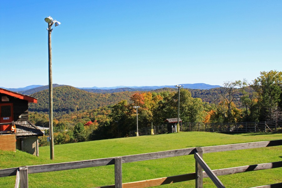 Fall view at Appalachian Ski Mountain in Blowing Rock