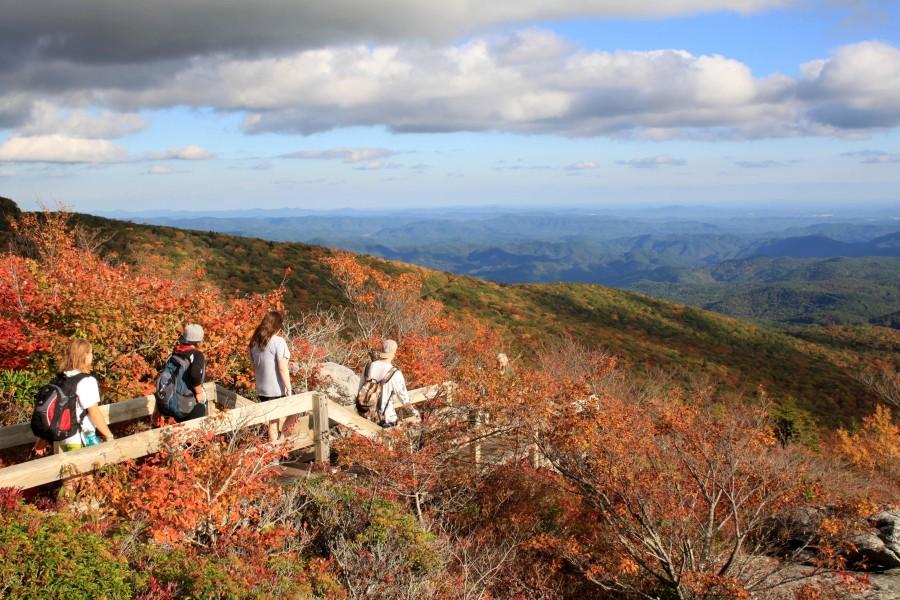 fall at rough ridge blue ridge parkway near blowing rock nc