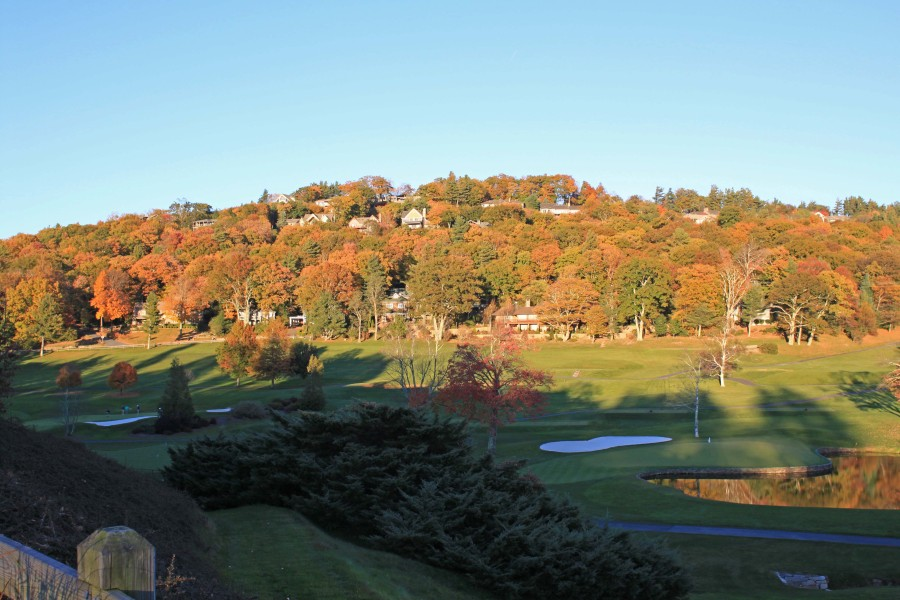 Blowing Rock Club golf course in fall