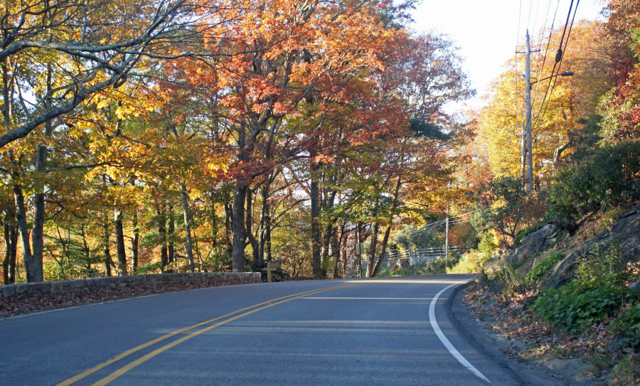 Main Street Blowing Rock with Fall Color