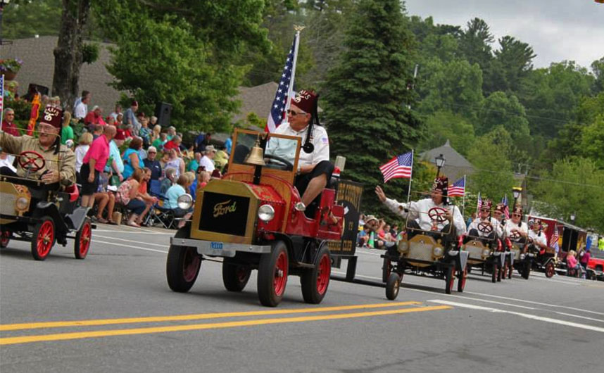 SHriner Parade in Blowing ROck