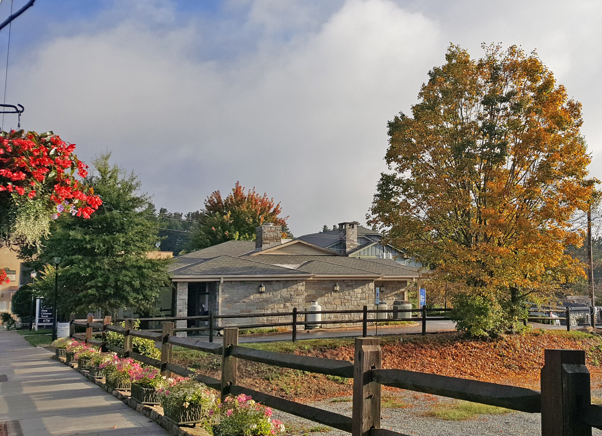 Fall color in downtown Blowing Rock