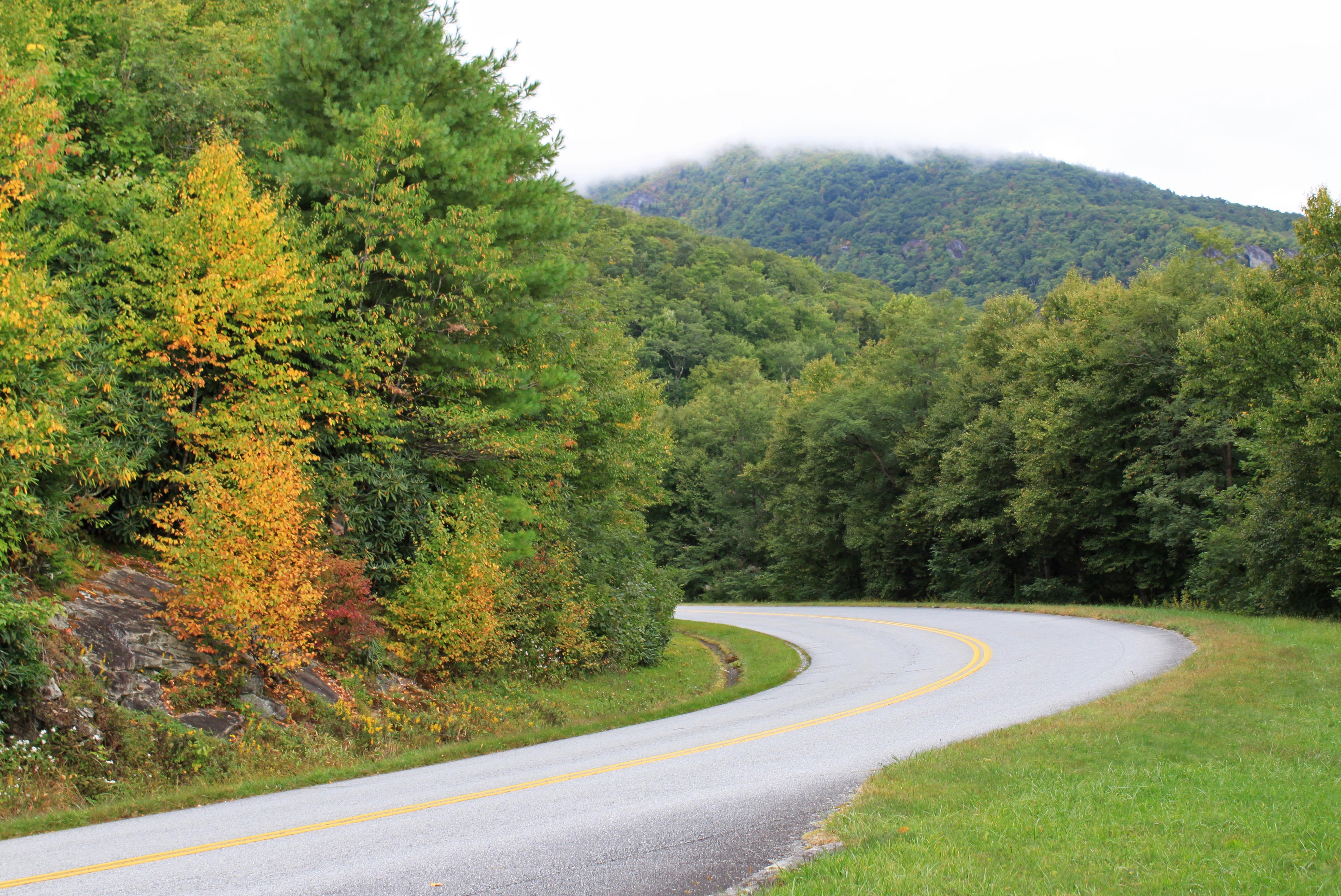 Early fall color on the Blue Ridge Parkway
