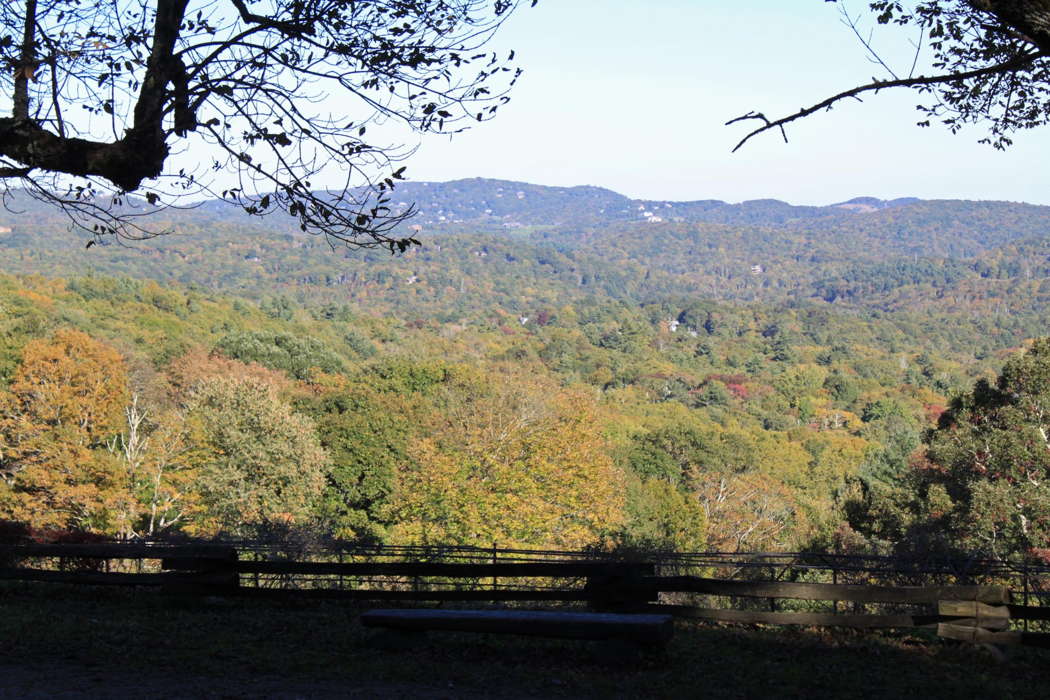 Early fall view in Blowing Rock NC
