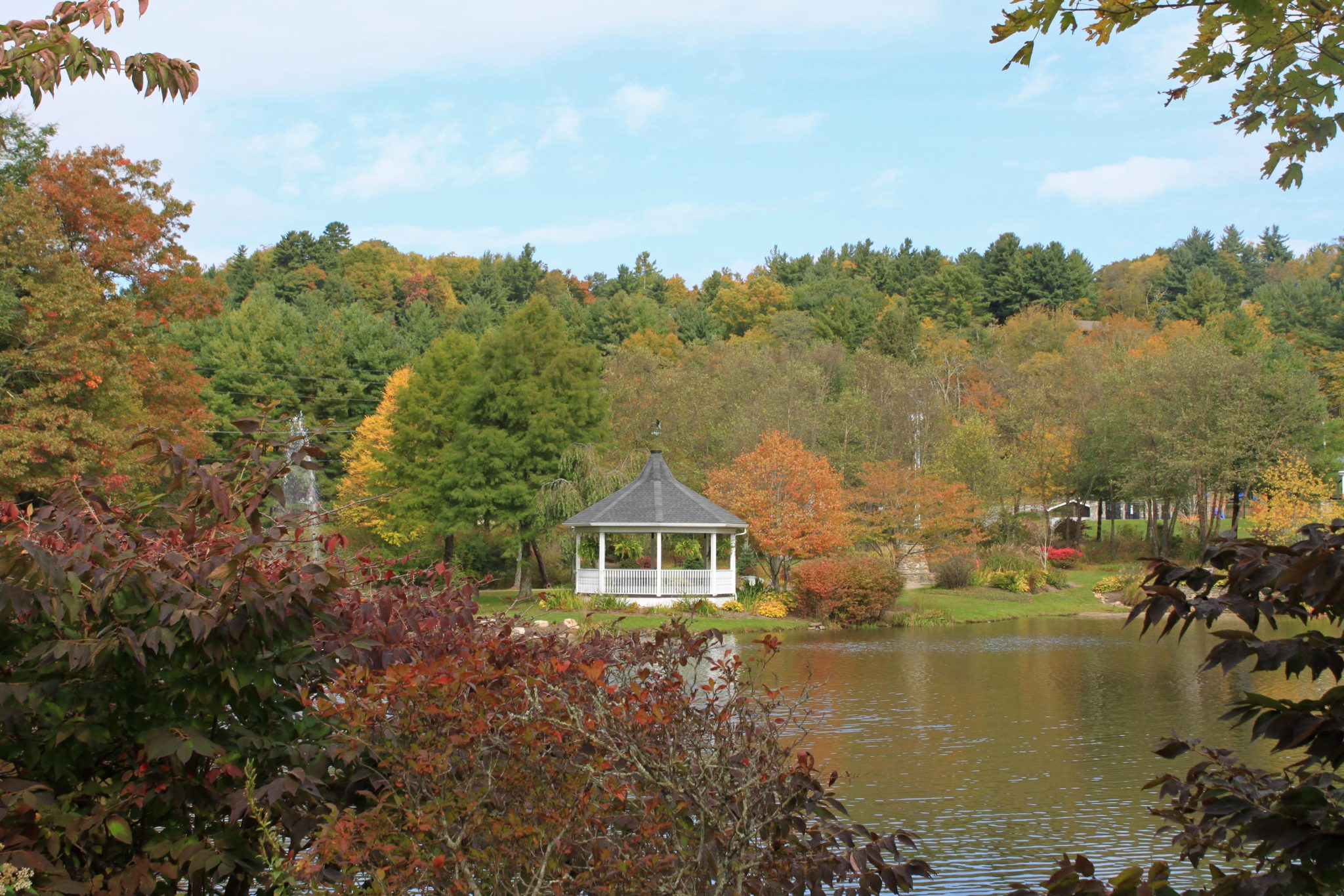 broyhill park in the fall