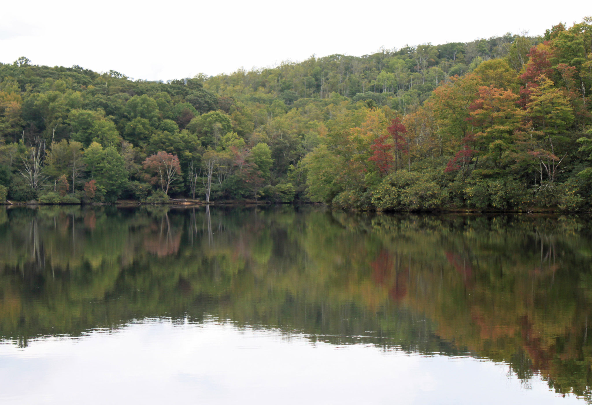 early fall foliage at Price Lake