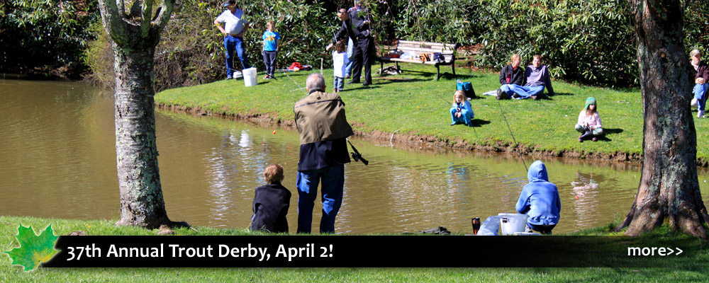 Blowing Rock Trout Derby fun for families spring and fishing season