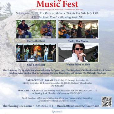 Blowing Rock Music Fest Returns September 16