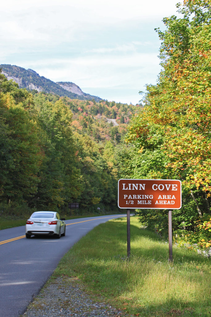 early fall near Linn Cove Viaduct on the Blue Ridge Parkway