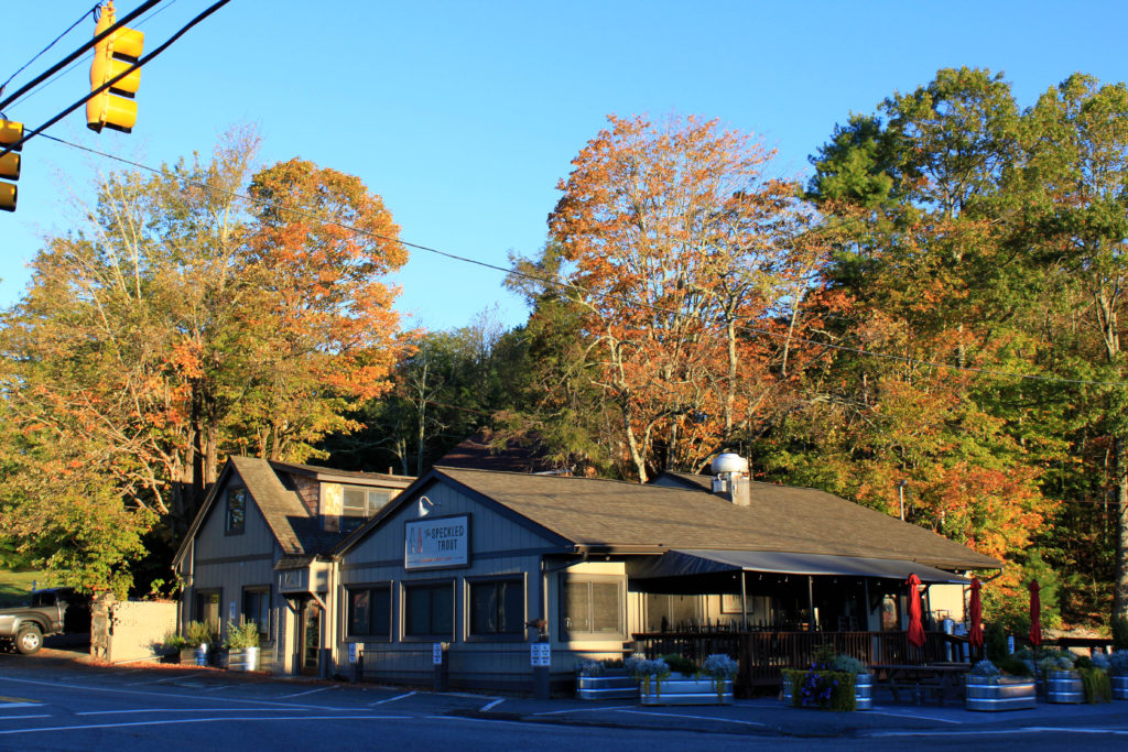Fall leaf disply at Speckled Trout in Blowing Rock, NC