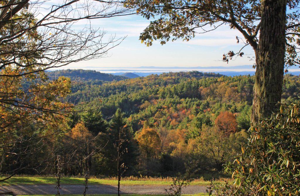 fall views in blowing rock nc