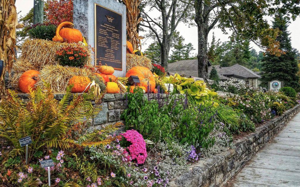 Fall display at Blowing Rock Memorial Park
