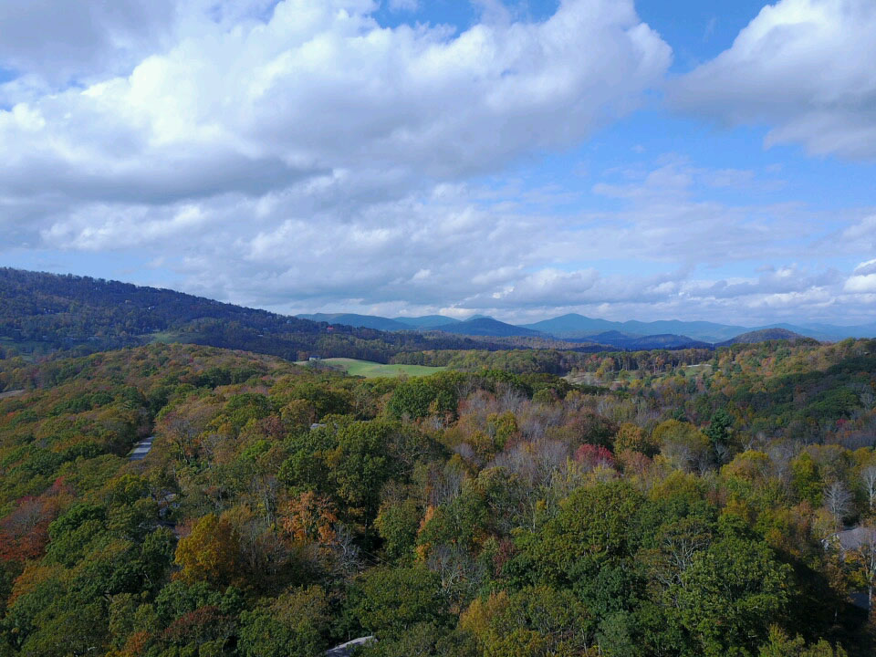 Fall view near Blowing Rock, NC