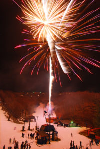 fireworks at Appalachian Ski Mountain