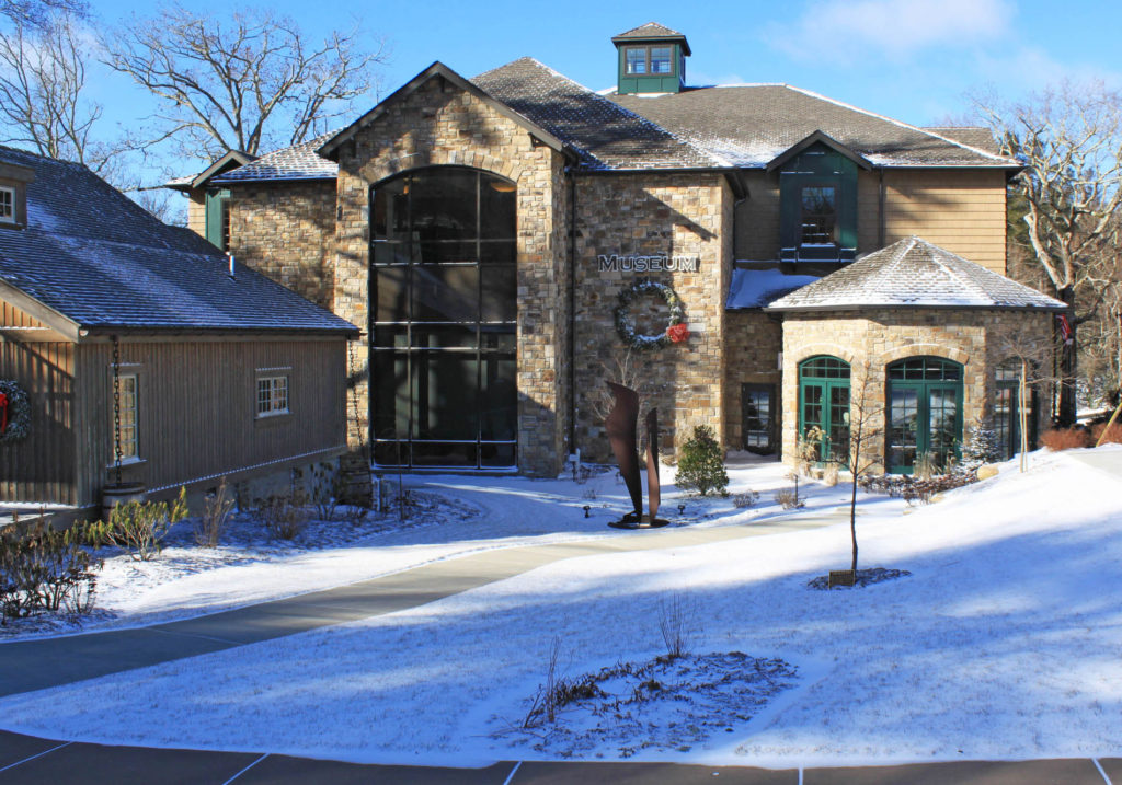 Blowing Rock Art & History Museum in winter