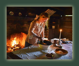 Cooking at Hickory Ridge Living History Museum