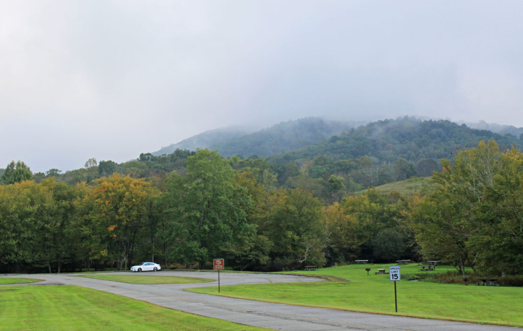 Fall view at Price Park on the Blue Ridge Parkway