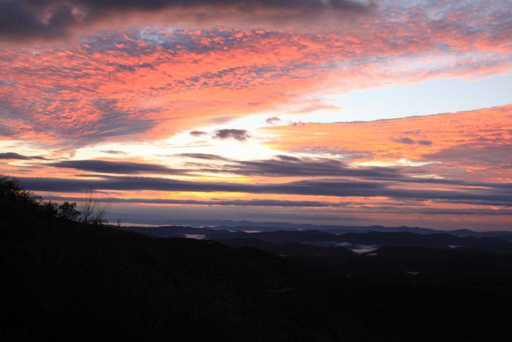blue ridge parkway sunrise