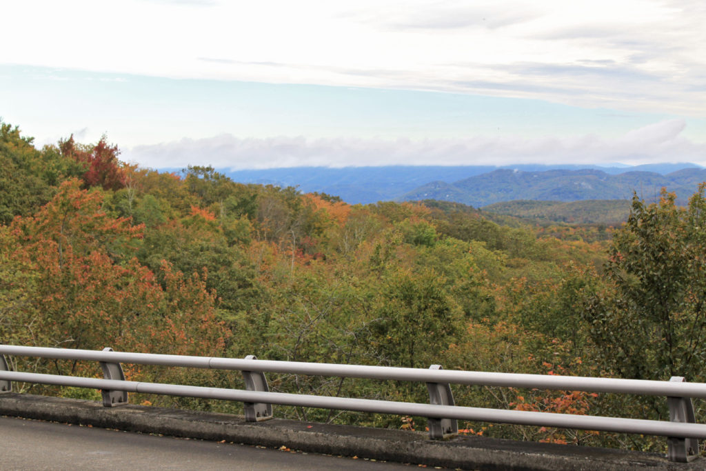 Start of fall color along Blue Ridge Parkway