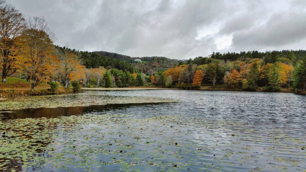 fall color at Bass Lake
