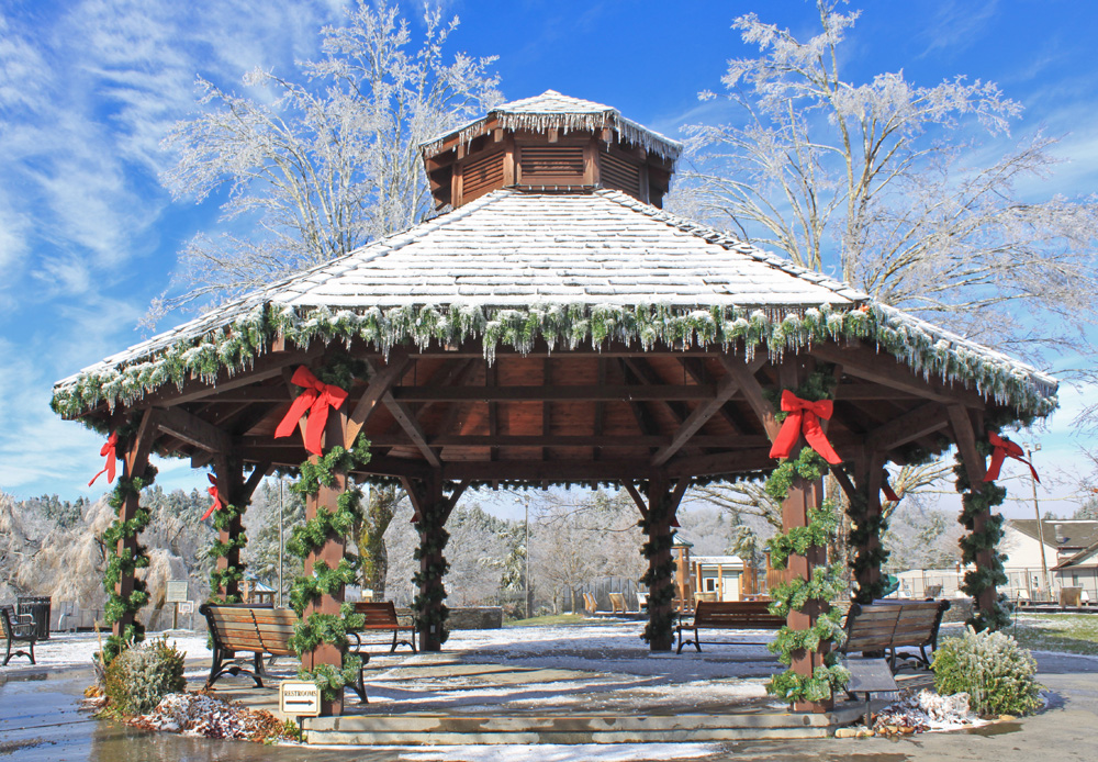 gazebo in downtown Blowing Rock's Memorial Park