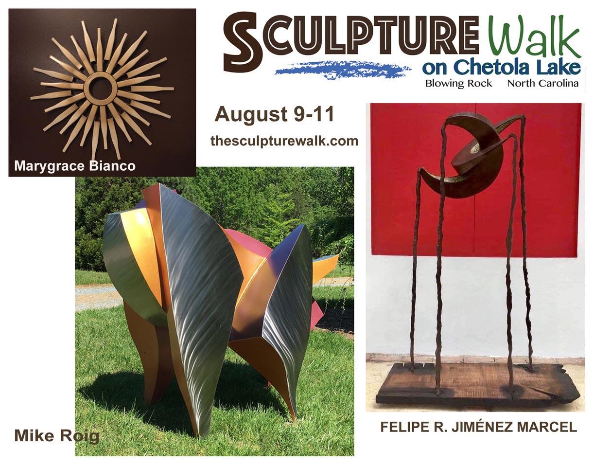 New Event! Sculpture Walk on Chetola Lake