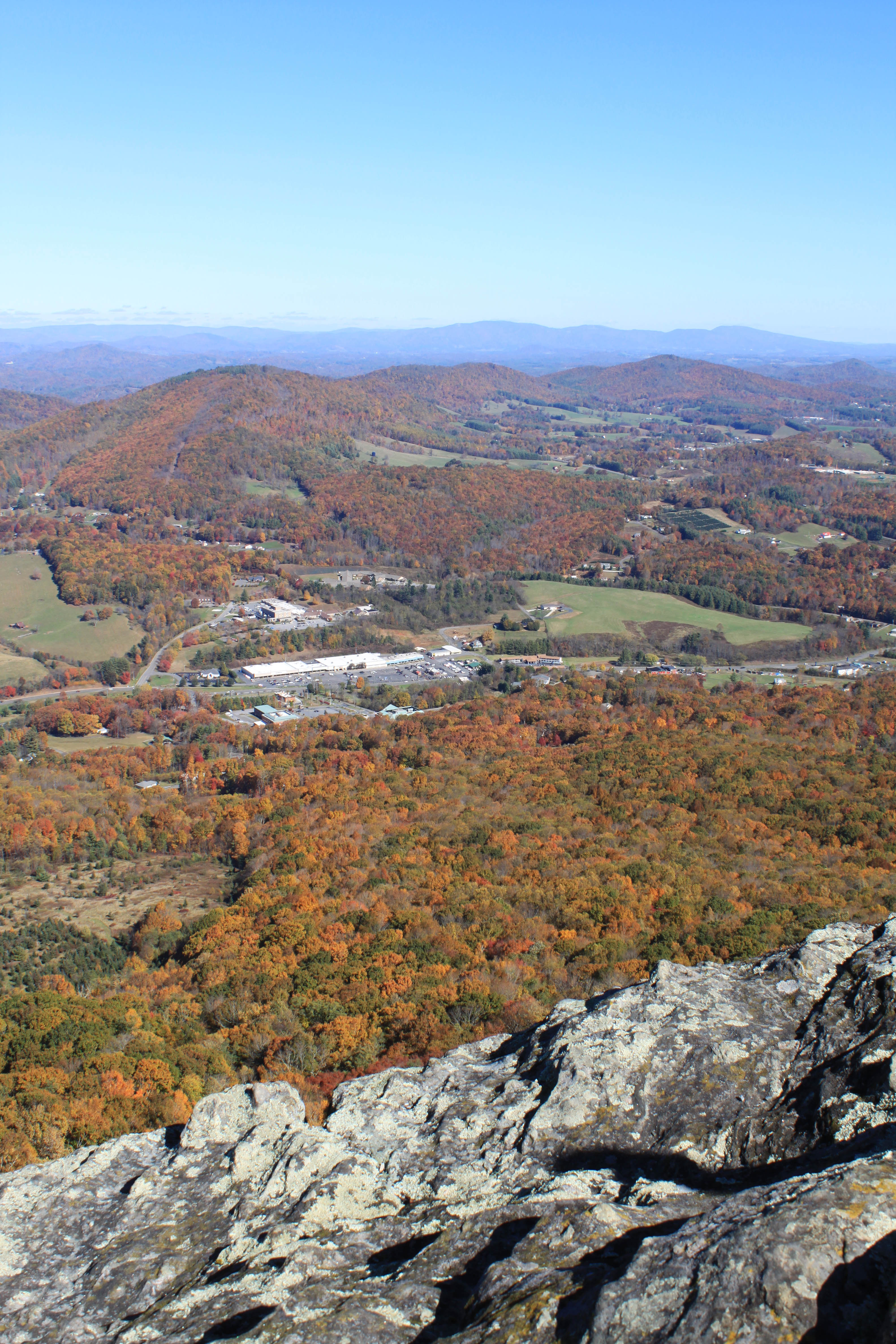 view of Ashe county fall