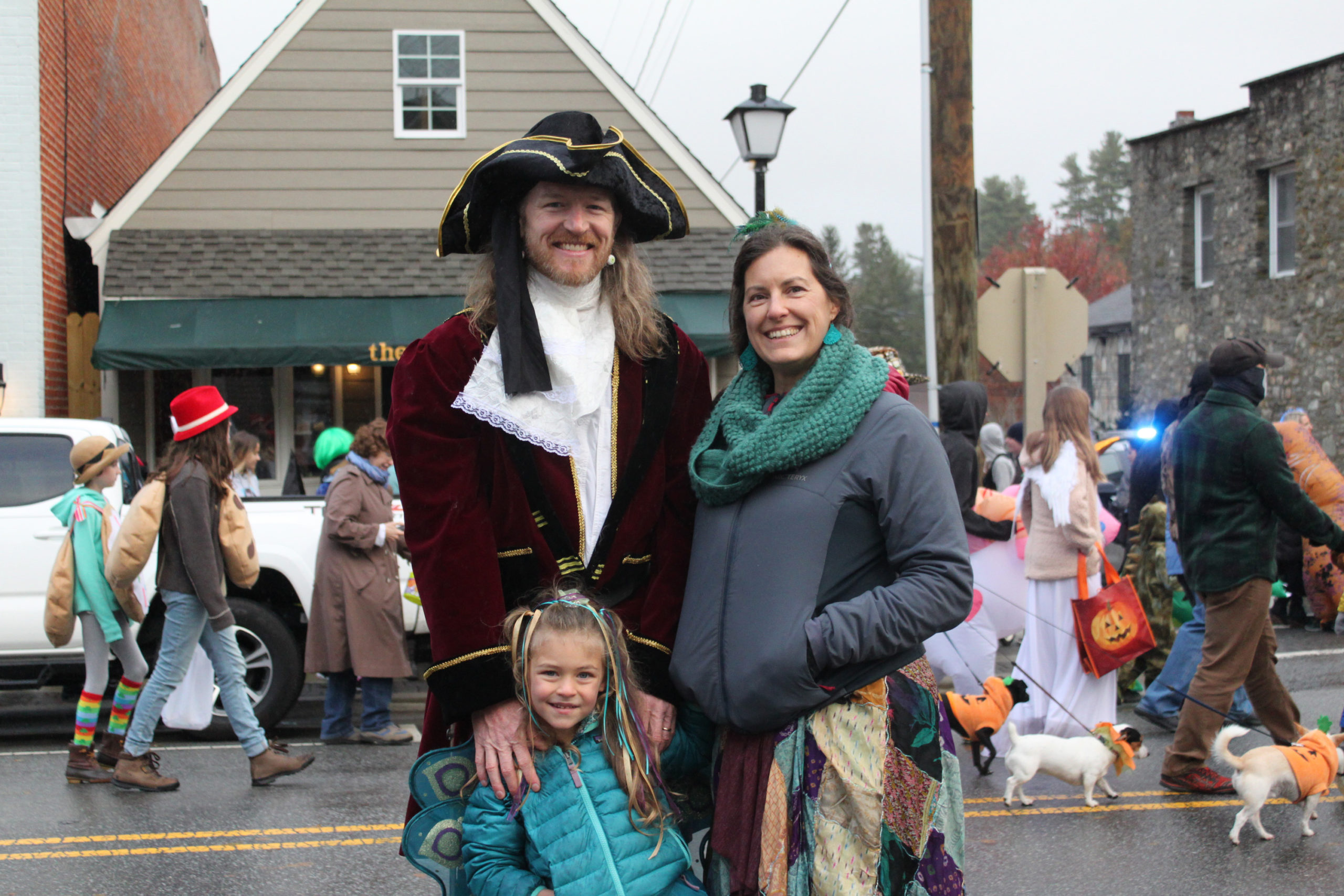 family at blowing rock halloween festival