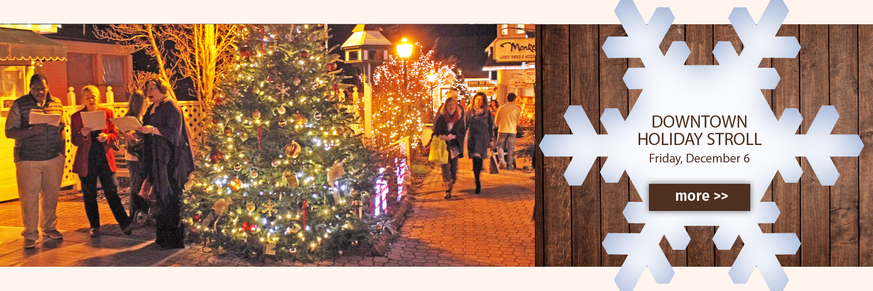 Downtown holiday stroll in Blowing Rock