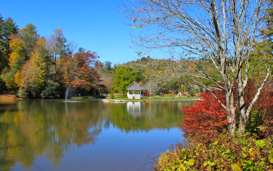 Broyhill Park in fall
