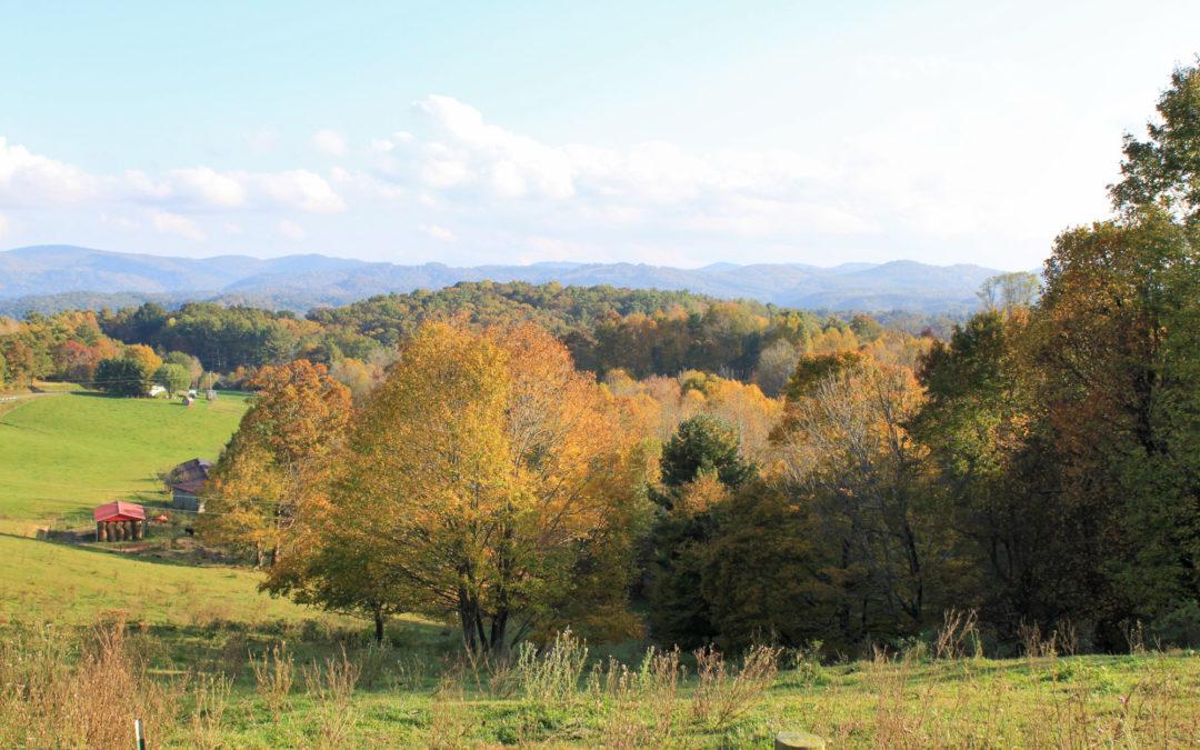 autumn color near todd nc
