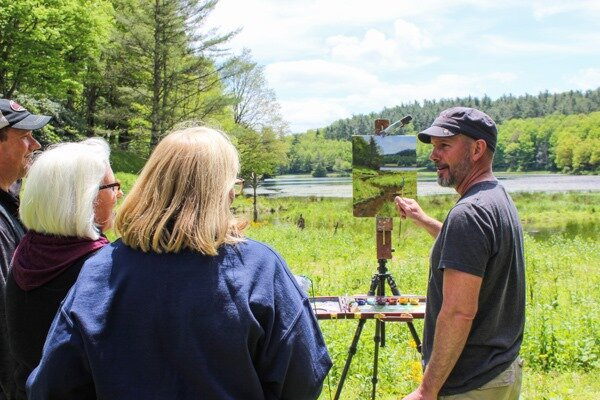 Jeremy Sams at Blowing Rock Plein Air Festival
