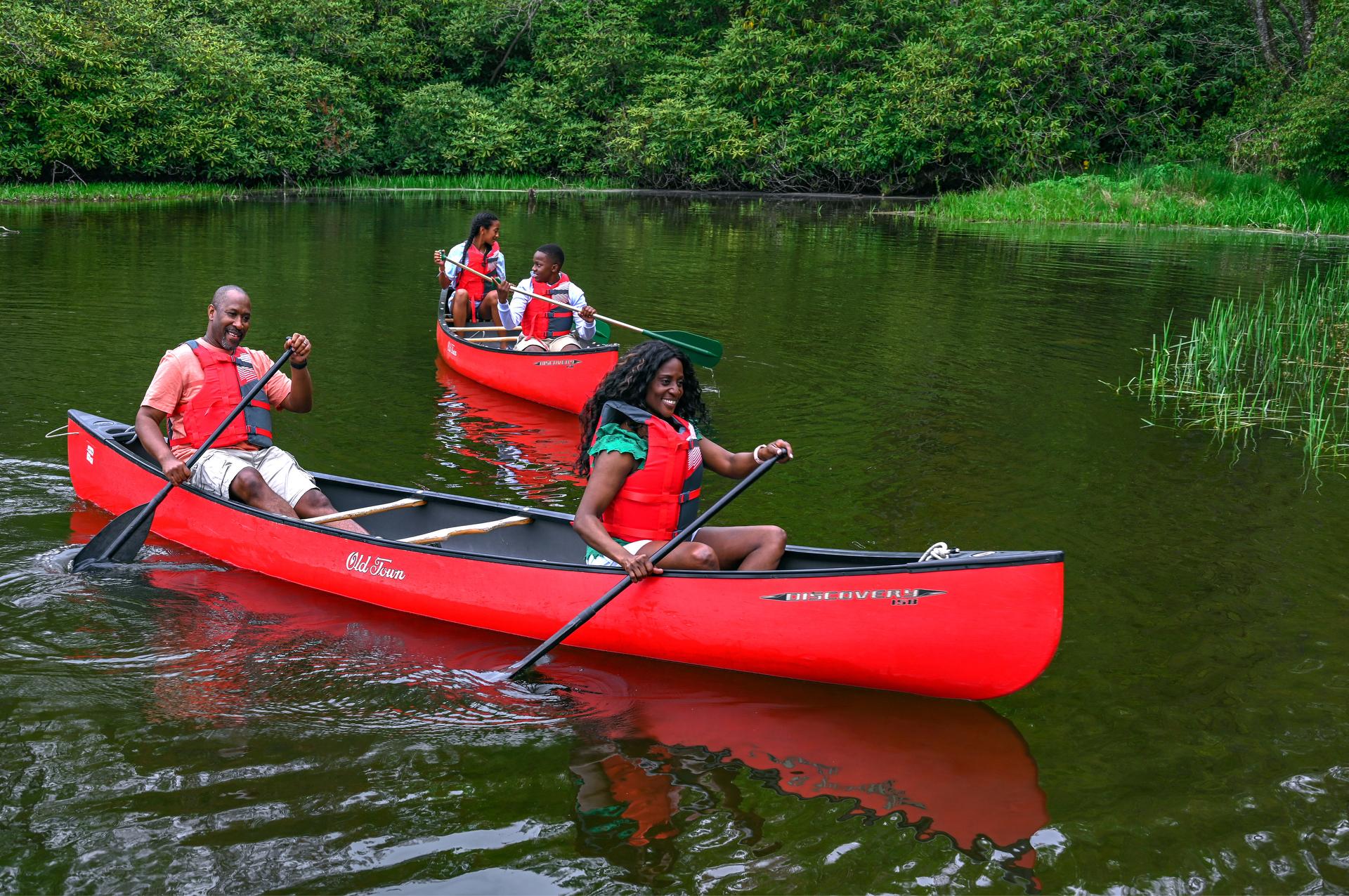 canoeing on price lake