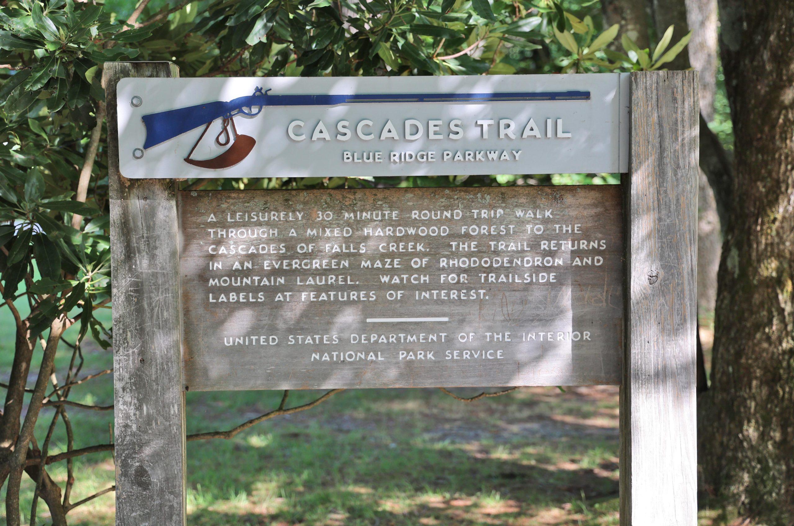 Cascades Trail Sign