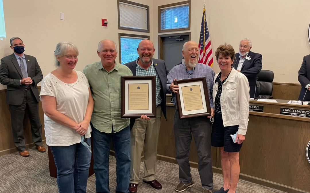 Owners of Woodlands BBQ recognized by Town of Blowing Rock