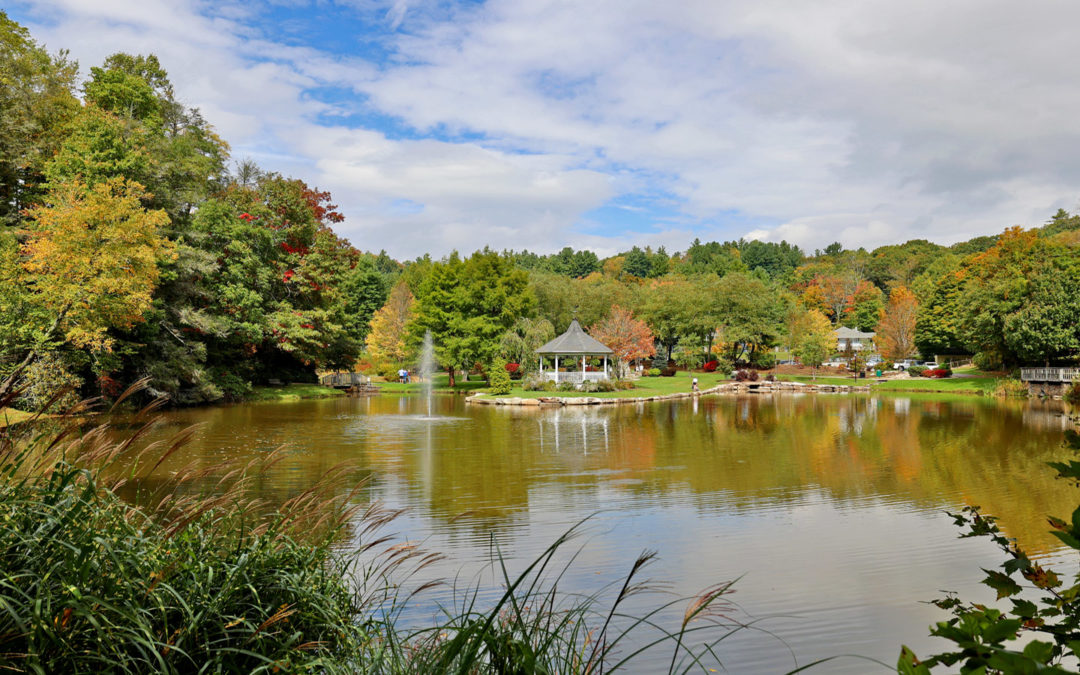 Broyhill Park early fall in Blowing Rock