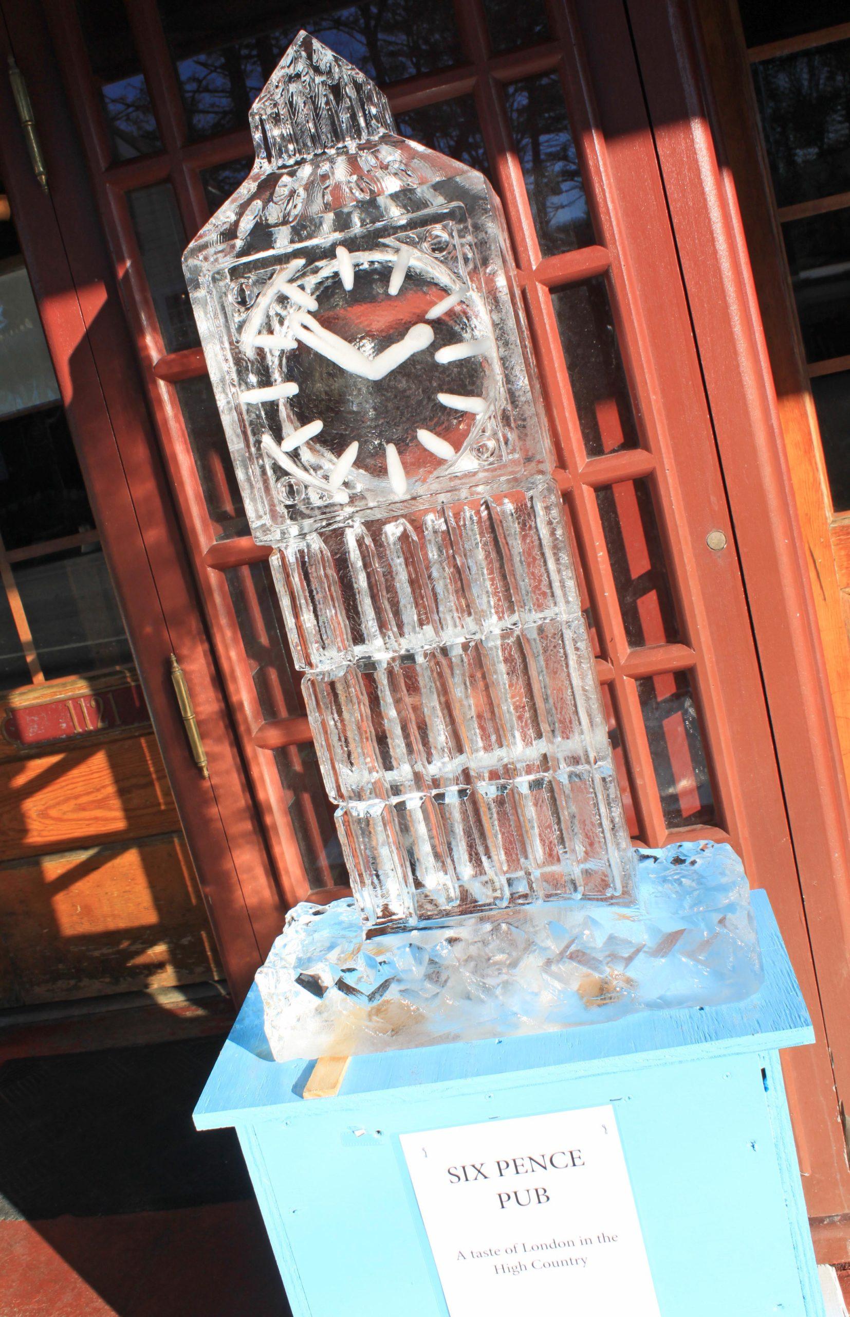 ice sculpture on main street